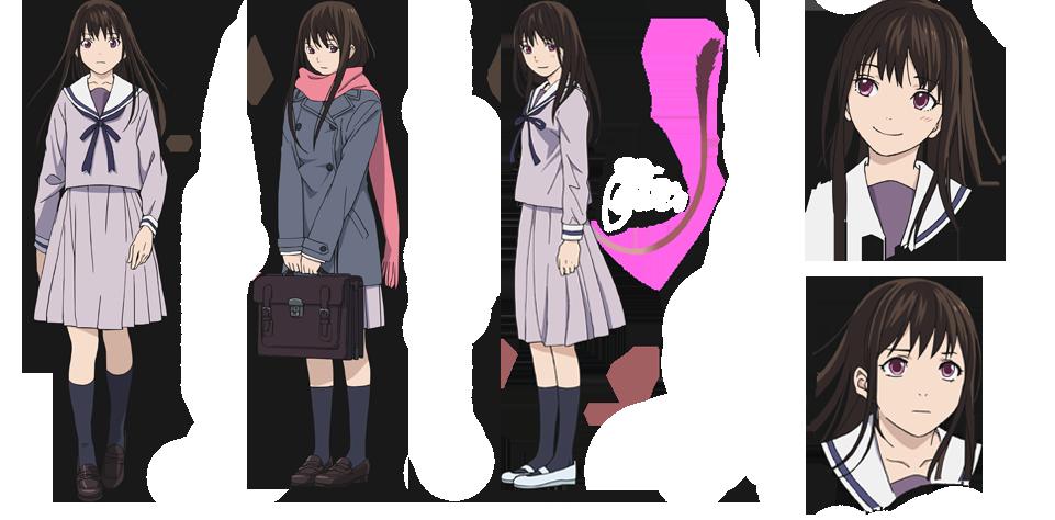 Anime girl dark brown hair brown eyes
