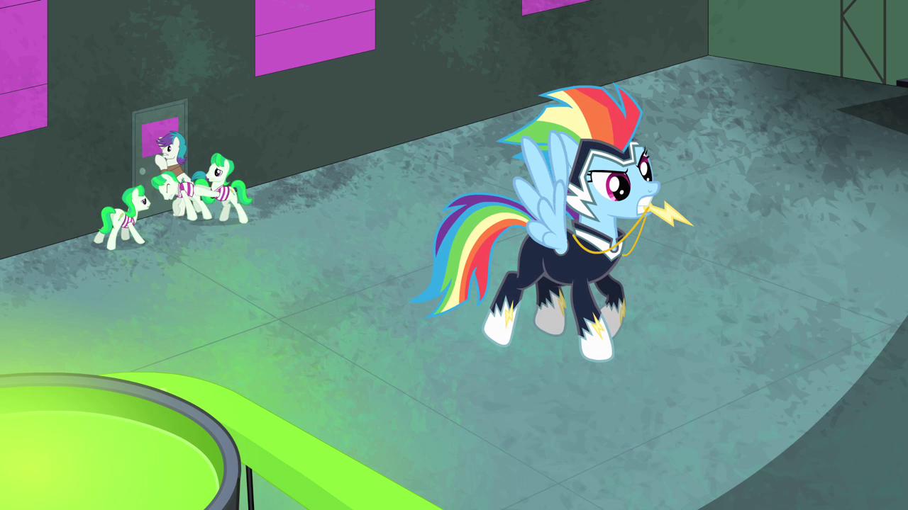 Rainbow dash hovering
