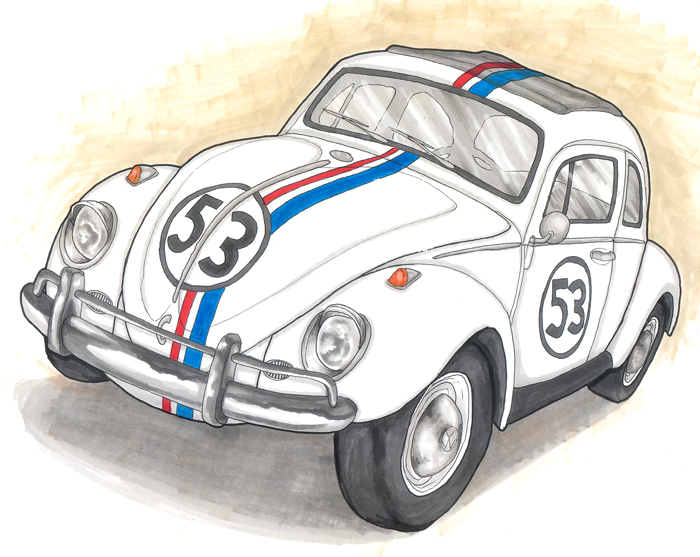 Herbie Car Drawing Four 106 Icontact