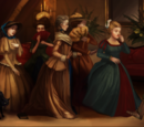 Women in crinolines