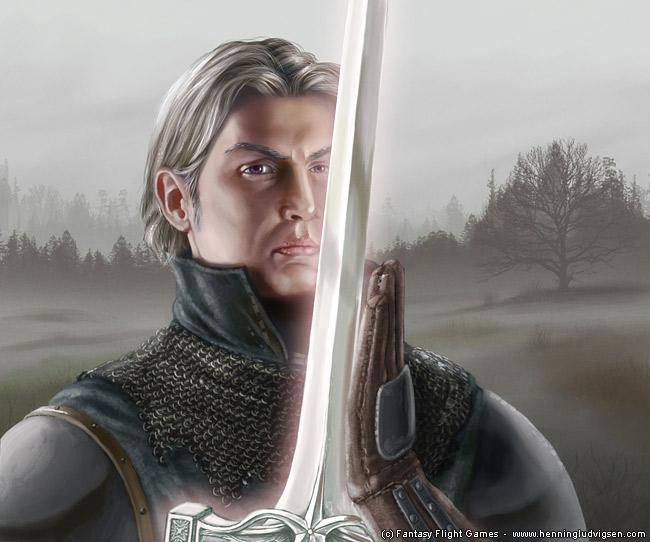 Imágenes de personajes que se parecen a los del server Arthur_Dayne_by_Henning_Ludvigsen,_Fantasy_Flight_Games%C2%A9