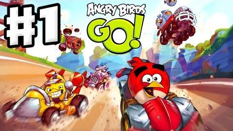 Angry Birds Go! Gameplay Walkthrough Part 1 - Red and Stella at the Seedway (iOS, Android)