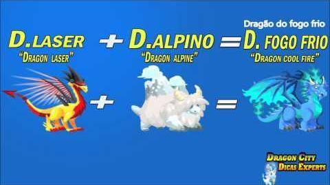 """Dragon City como fazer dragão do fogo frio """"Dragon city How to get coll fire dragon"""""""