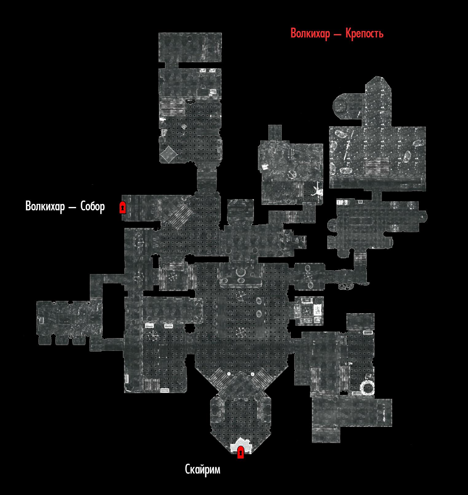 Skyrim Карта Замок Волкихар