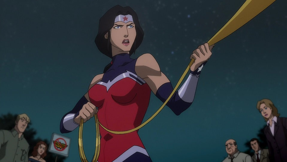 Wonder Woman meets Superman! - Justice League: War (2014 ... |Wonder Woman Justice League War