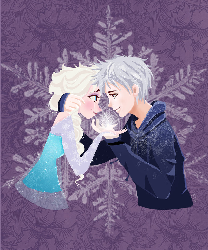 Jack Frost and Elsa Frozen
