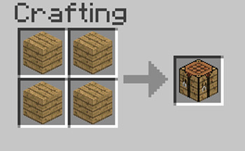How To Make A Crafting Table In Mine Blocks