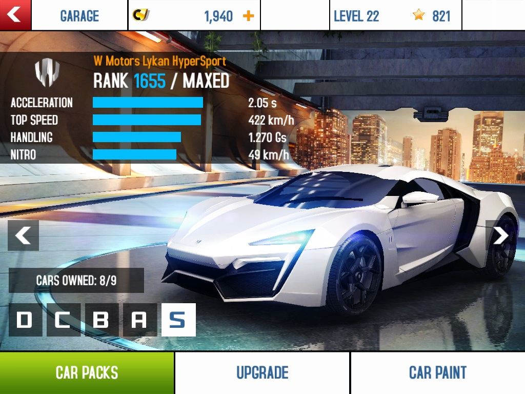 Asphalt 8 Airborne presents the Lykan HyperSport