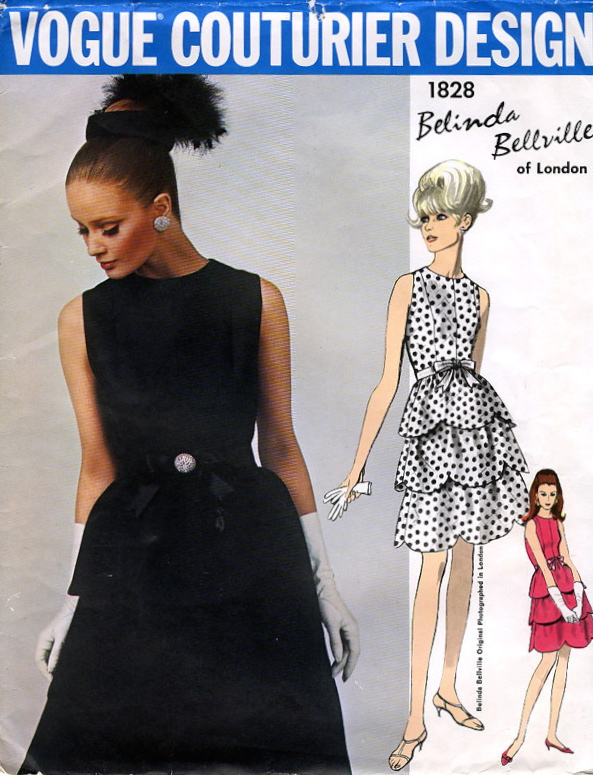 1960s Belinda Bellville evening dress pattern - Vogue 1828