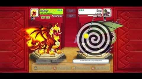 Dragon city Pure Flame Dragon lvl 35