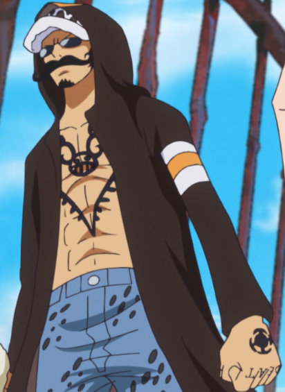 Law dressrosa outfit for One piece law tattoos
