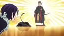Yukine and Hiyori bowing to Tenjin.png