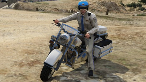 Bikes Vs Cop his Police Bike in GTA V