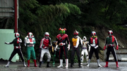 Seven Legendary Riders with OOO and Fourze