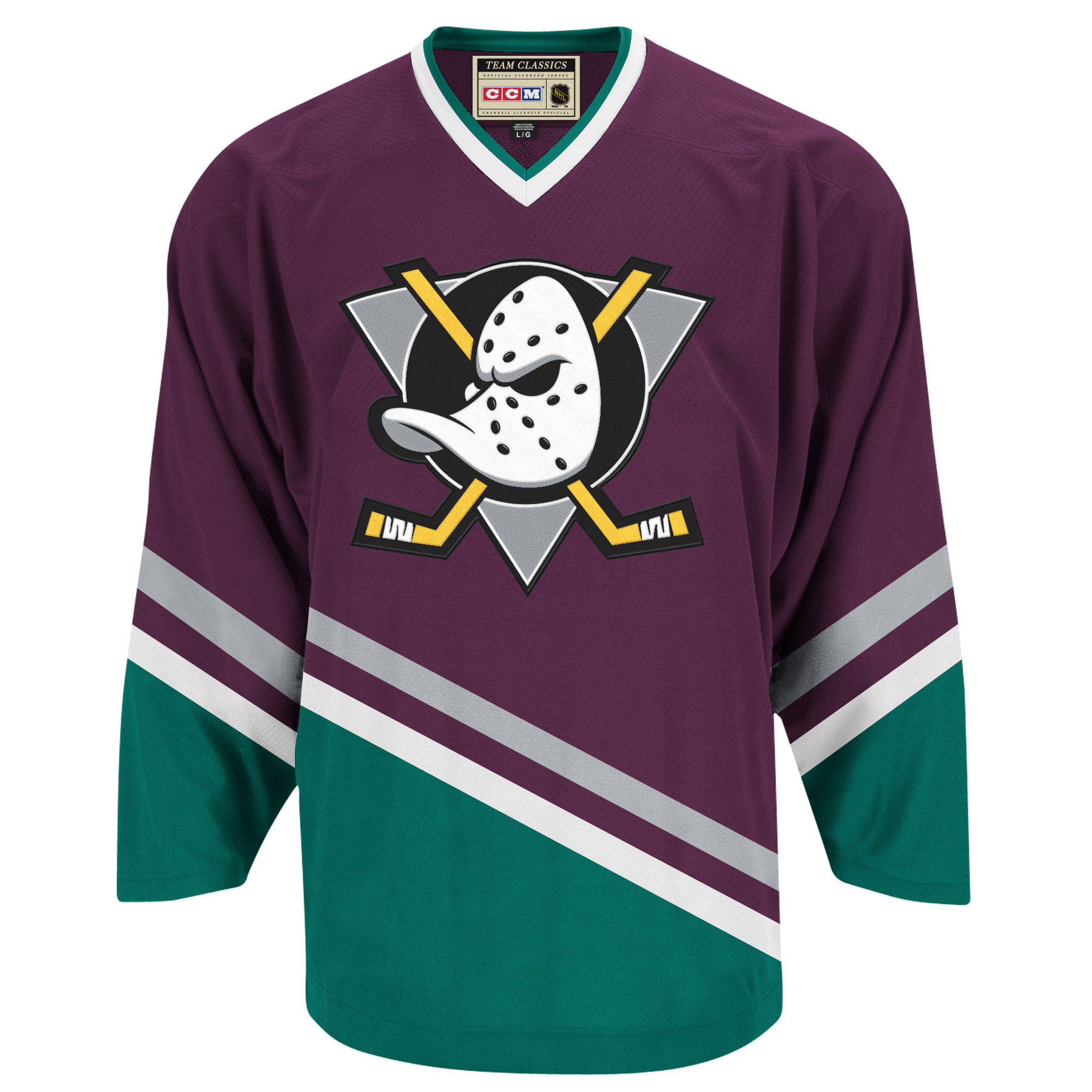 ... pattern that the original Mighty Ducks jersey had 6cc71121c1e6