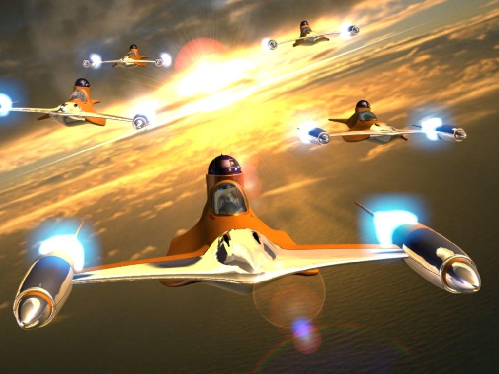 Image - Naboo Starfighters-sunset patrol.jpg - Star Wars