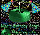 Nisa's Birthday Songs