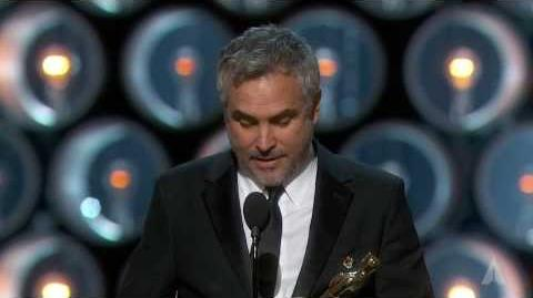"Alfonso Cuarón winning the Oscar® for Directing ""Gravity"""