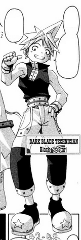 Black Star appearance in the first part of the manga