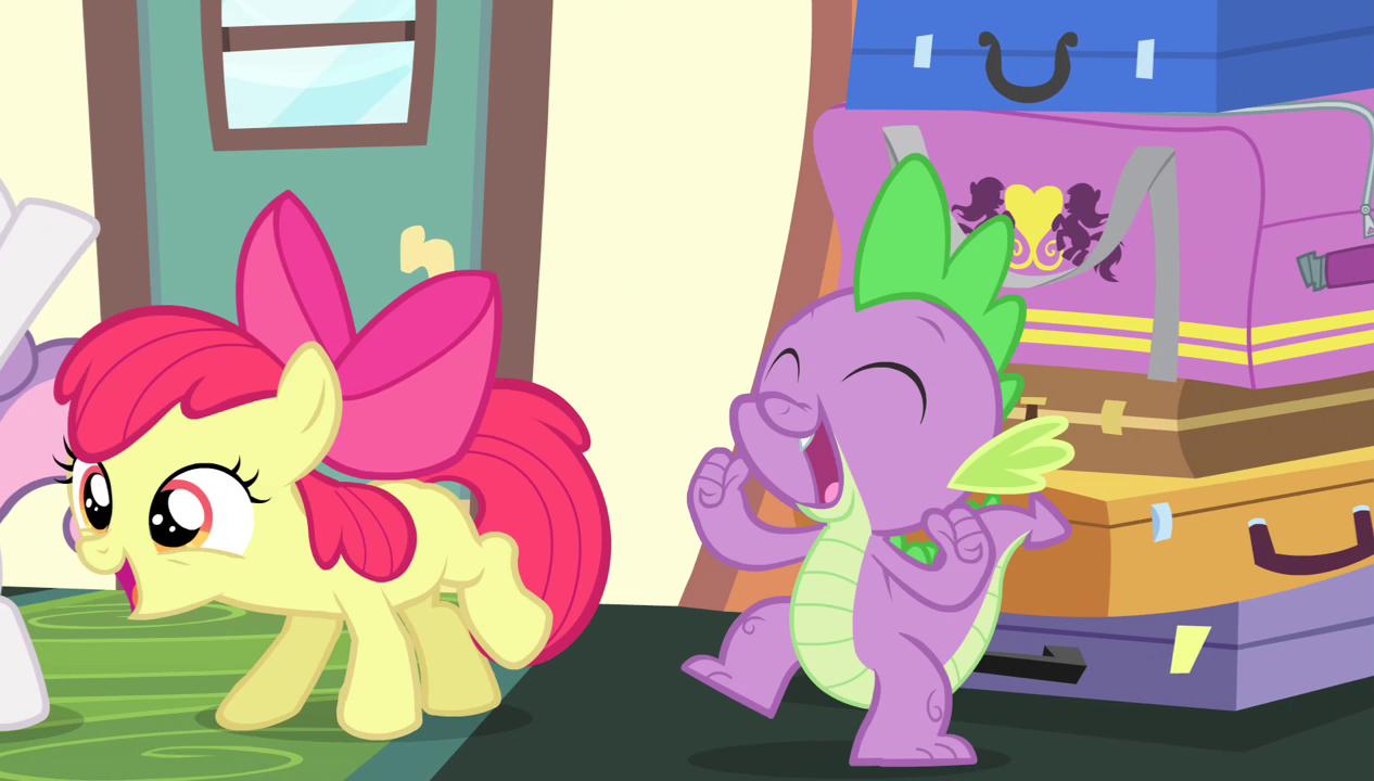 my little pony spike x applebloom