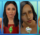 Sims with long hair