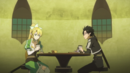 Kirito and Leafa at the Lily of the Valley Pavillion pub.png