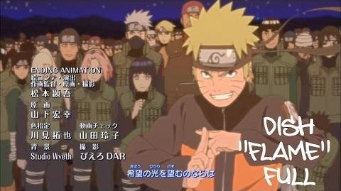 Naruto Shippuden Ending 29 (Official FULL version) HD (With Lyrics) Flame - Dish DOWNLOAD-0