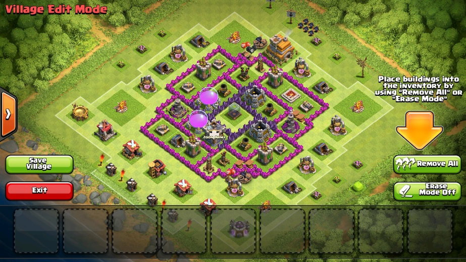 Effective Town Hall 7 layout for Clan Wars - Clash of