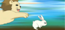 Ren as the tiger and Kyoko as the rabbit.png