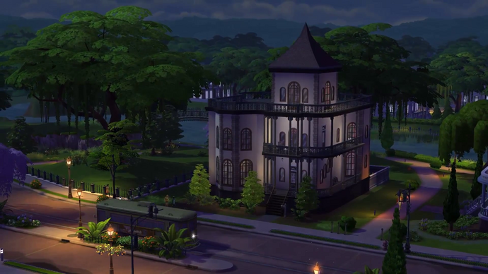 Amazing concept art of willow creek victorian style for Willow creek mansion