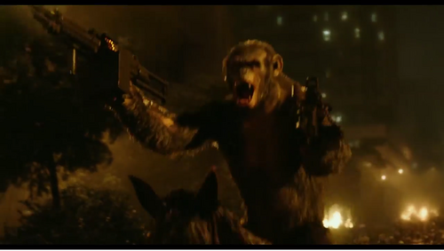 Image - Koba with 2 machine guns.png - Planet of the Apes ...