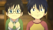 Rin y Yukio de pequeños