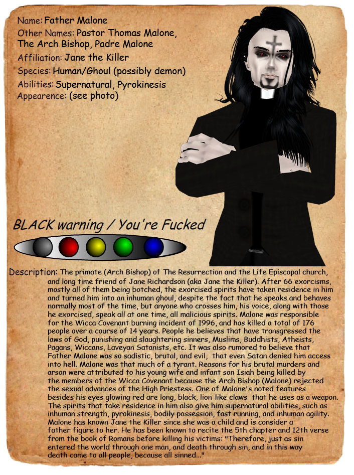 creepypasta character profiles source http creepypastaland wikia com    Creepypasta Character Profiles