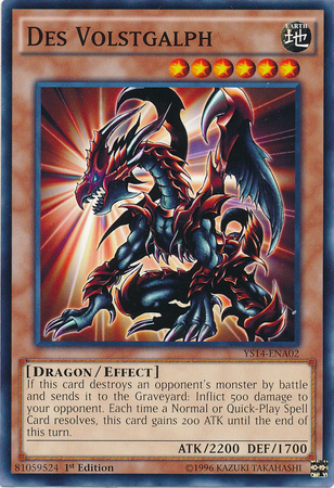 Legendary Dragons Card Shop DesVolstgalph-YS14-EN-C-1E