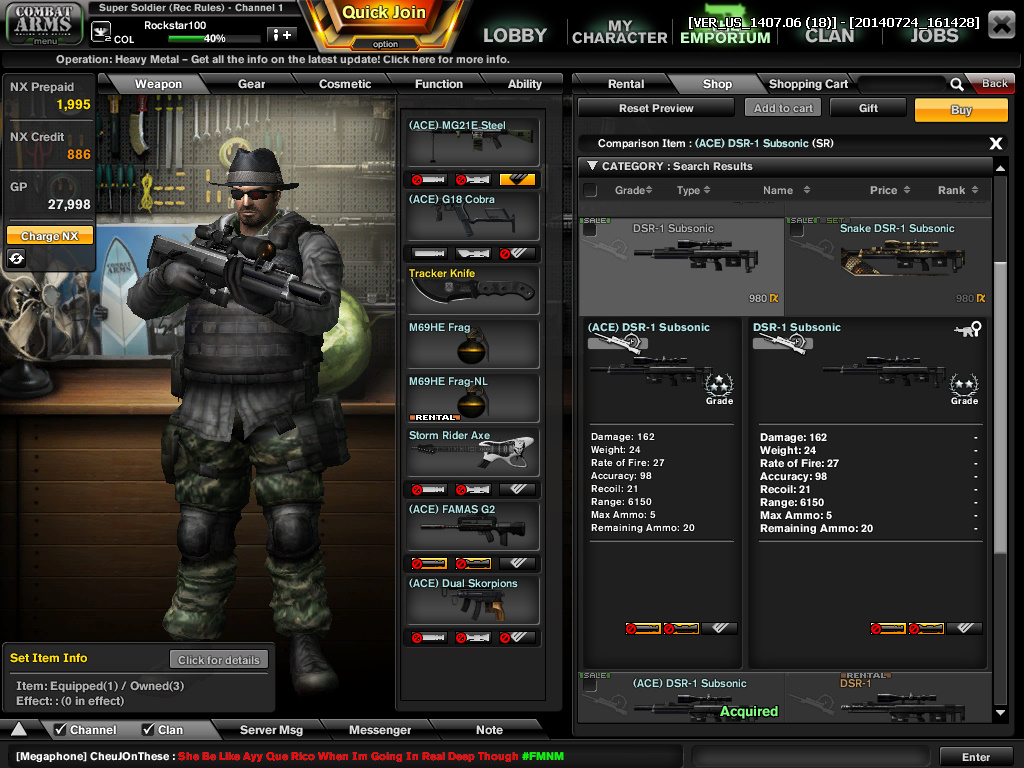 Combat Arms Reboot ACE_Weapon_Compare_Ex.4