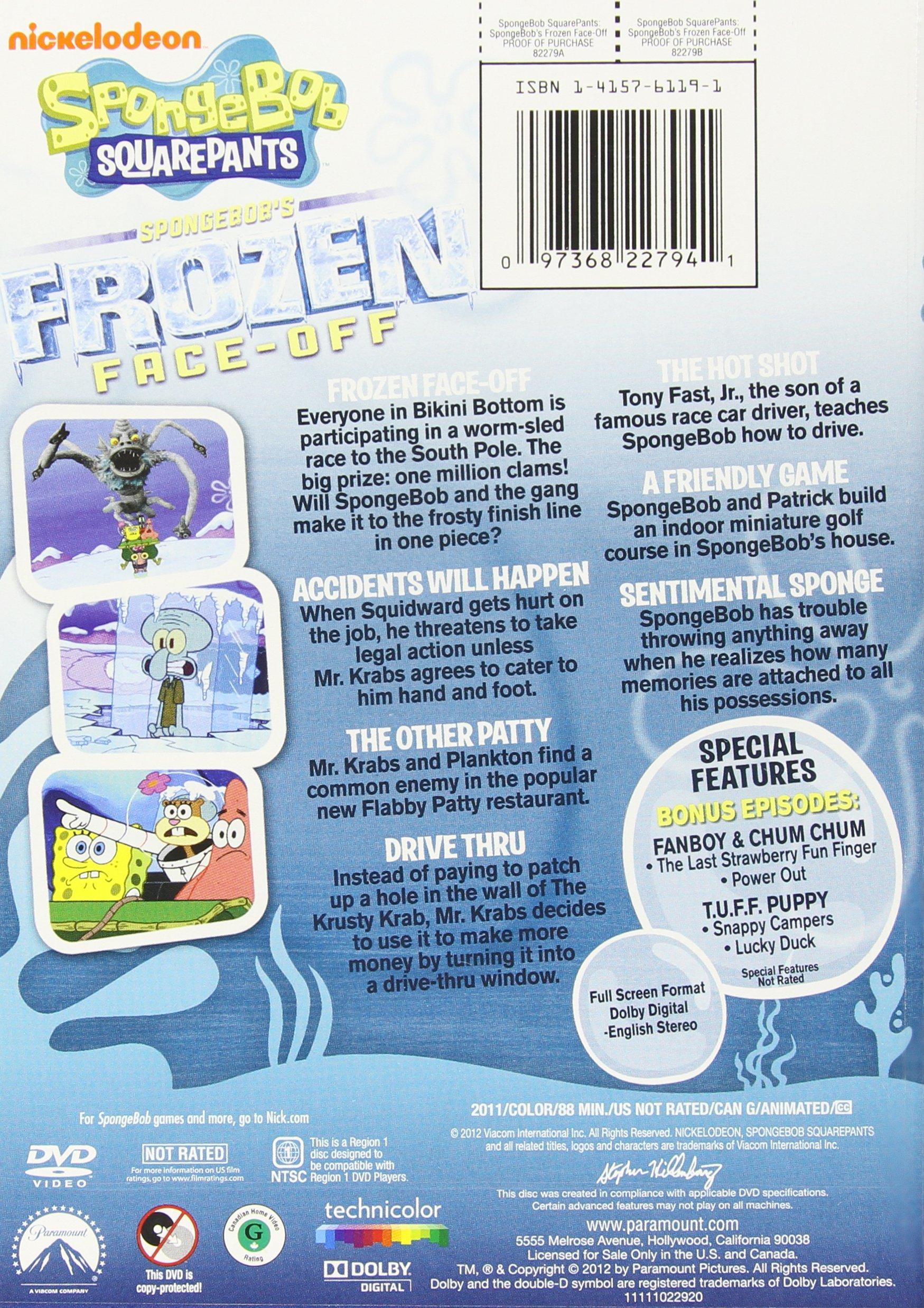Frozen Face Off Spongebob
