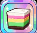 Bouncy Rainbow Rice Cake