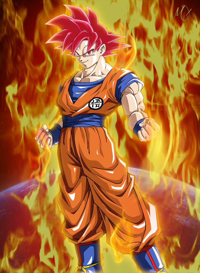 Super Saiyan God Goku Wallpaper - WallpaperSafari |Goku Super Sayian God