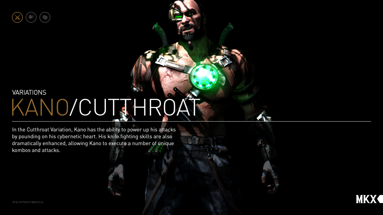"MKX: NEW Gameplay! Kano Variación ""Cutthroat"" MKX_Kano_Cutthroat"