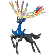 Xerneas as it appears in Super Smash Bros  for 3DS   WiiU  Xerneas