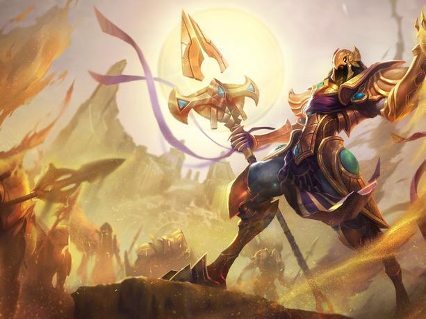 Обои League of Legends Магия Azir, Emperor of the Sands Копья Игры Фэнтези