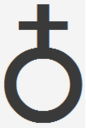 Antimony alchemical symbol from unicode.png