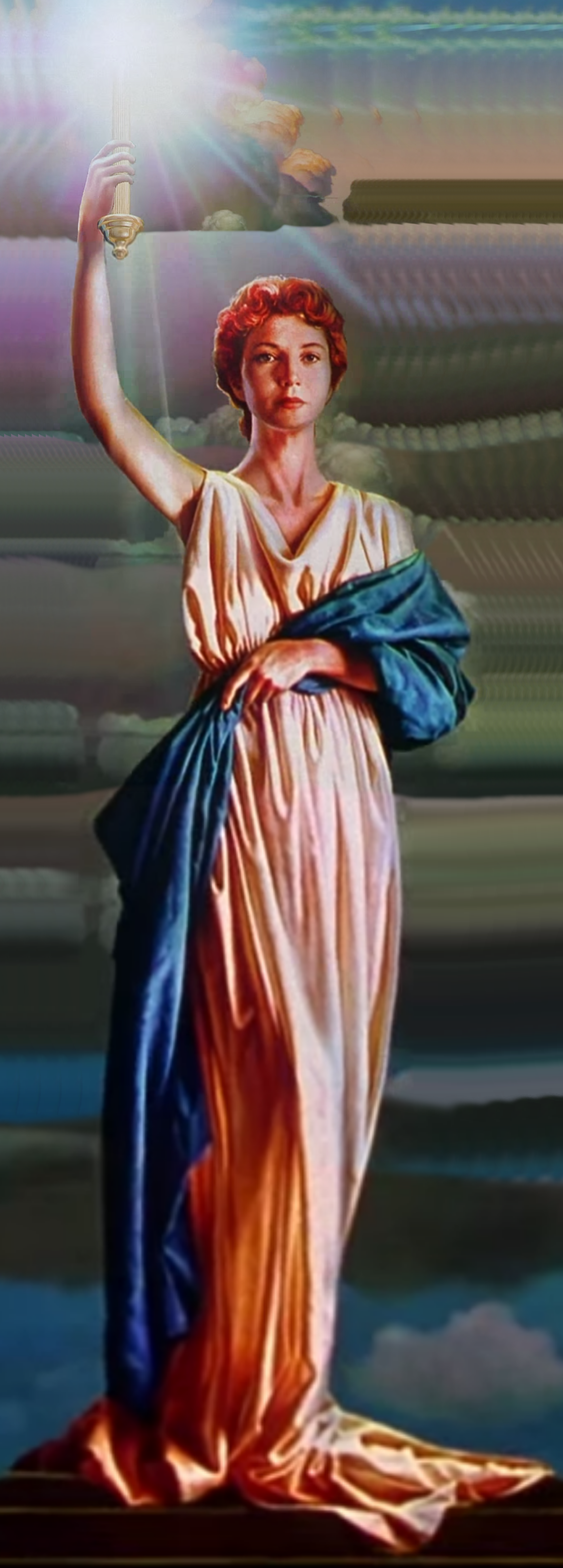 Image Columbia Torch Lady Painting 1993 2007 Png
