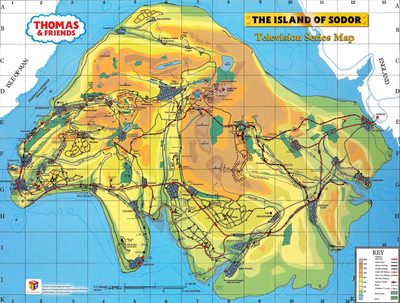 ソドー島の地図