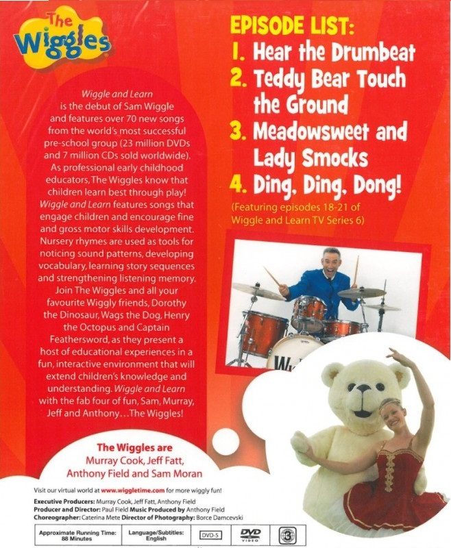 Wiggles and learn dvd