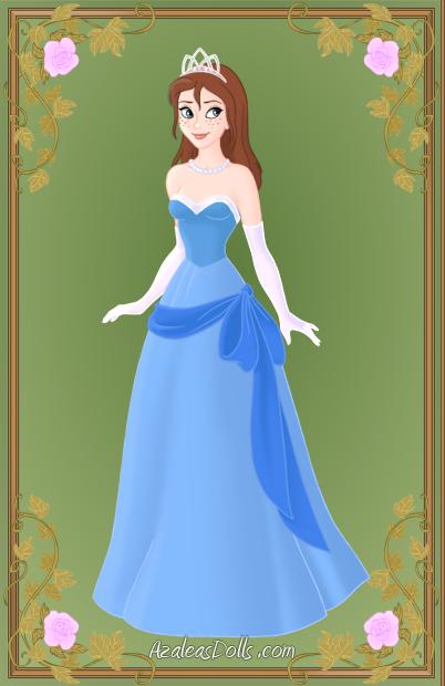 Image - Wreck it rachel as tiana (blue dress).png - Wreck-It Ralph