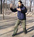 Nitzan Oren practicing Zhan Zhuang.jpg
