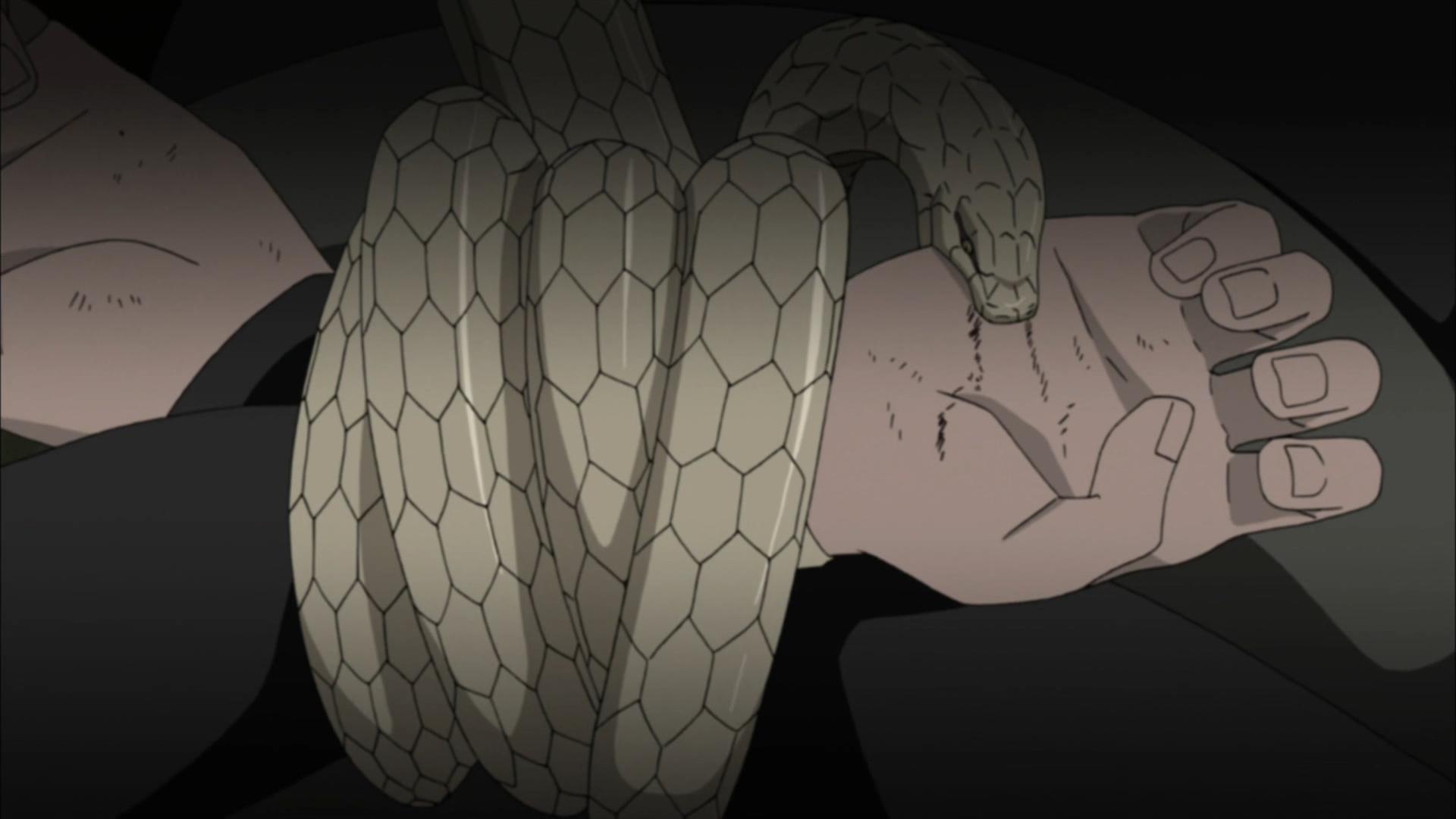 Invocações com Contratos de Sangue Cobra_de_Kabuto_suprimindo_Mokuton_de_Yamato