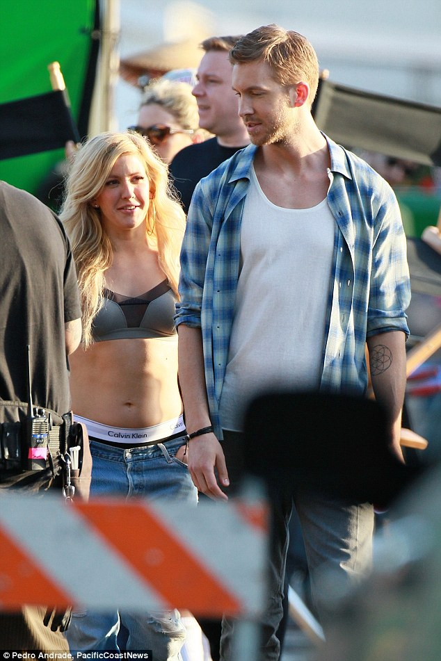 Calvin Harris and Ellie Goulding get   Daily Mail Online