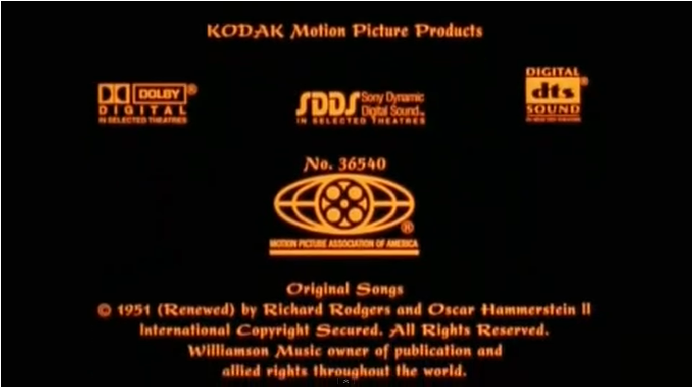Image THE KING AND I 1999 MPAA NUMBERpng Logopedia